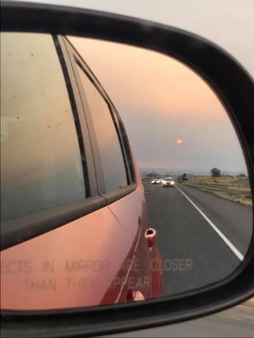 Day 1, Aug 22 Sunset heading toward Idaho