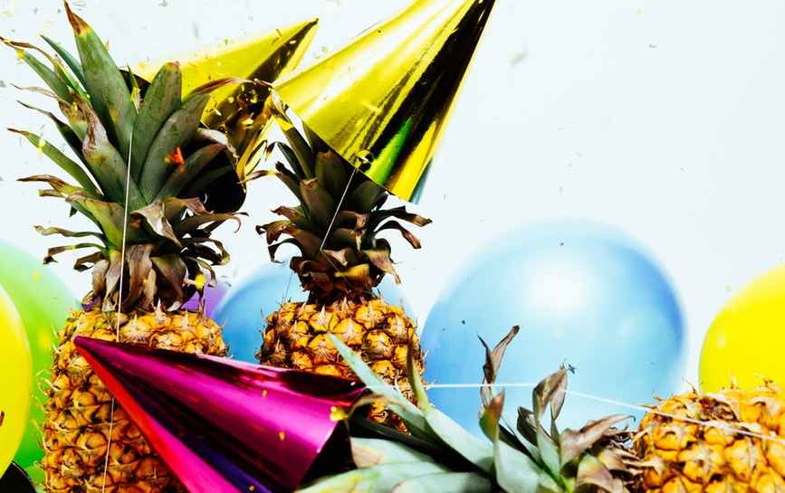 Pineapples, Party Hats and Balloons - Birthday Fiesta